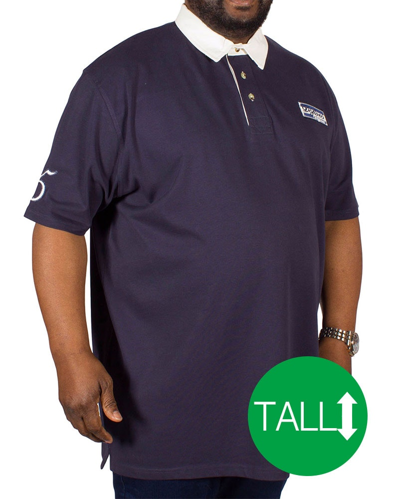 D555 Nash Rugby Polo Shirt Navy Tall