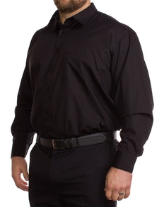 Rael Brook Long Sleeve Black Shirt