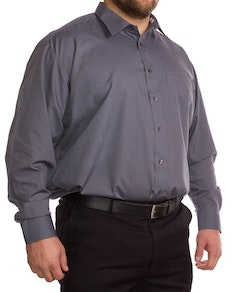 Rael Brook Long Sleeve Charcoal Shirt