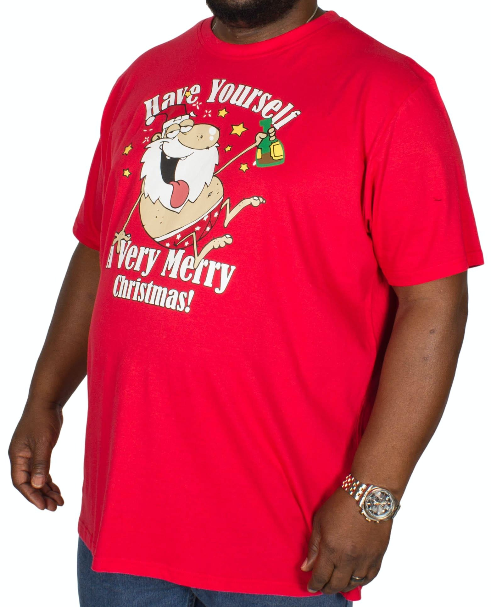 D555 Merry Christmas T-Shirt Red