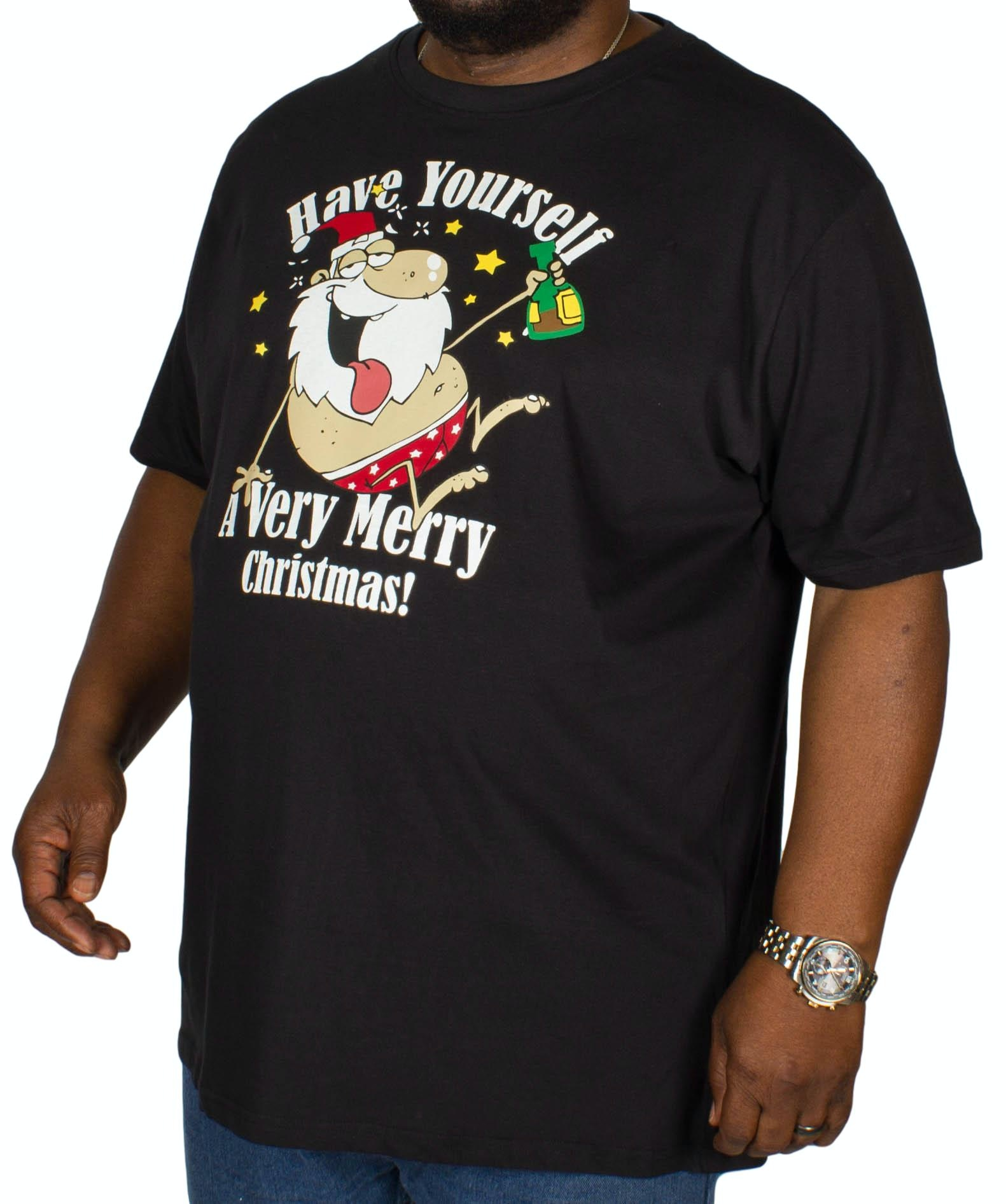 D555 Merry Christmas T-Shirt Black