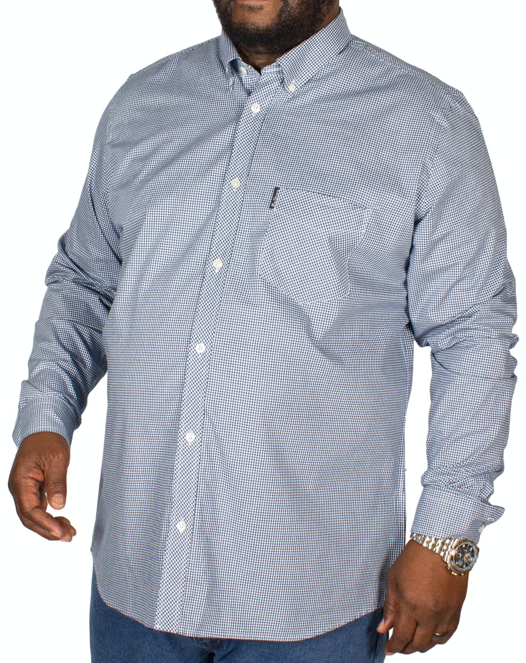 Ben Sherman Classic Gingham Shirt Denim Blue