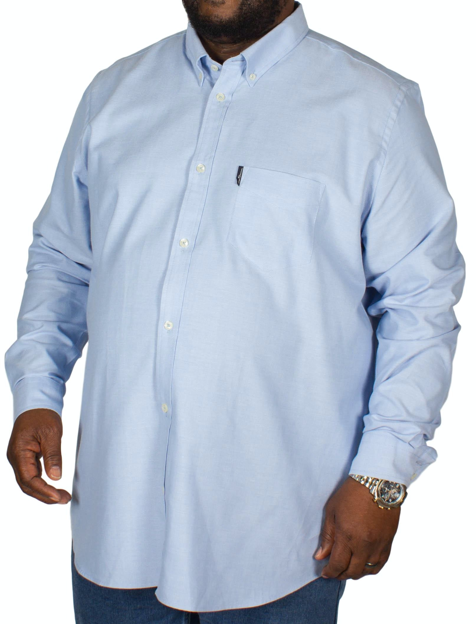 Ben Sherman Plain Oxford Long Sleeve Shirt Light Blue