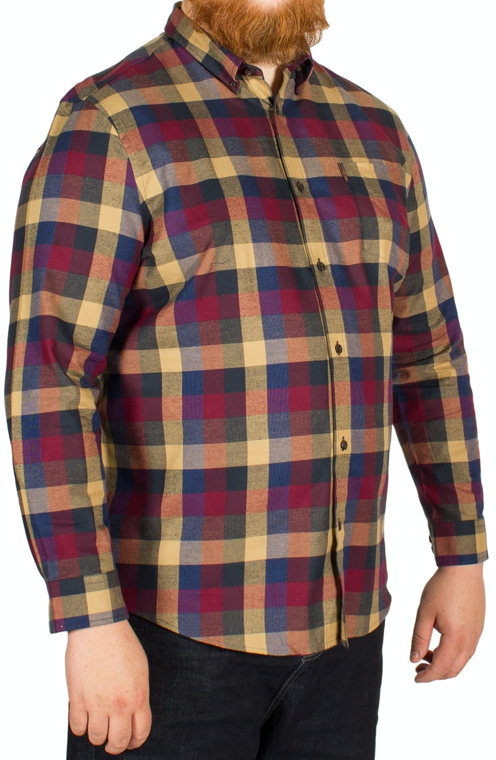 Ben Sherman Textured Check Buffalo Shirt Red