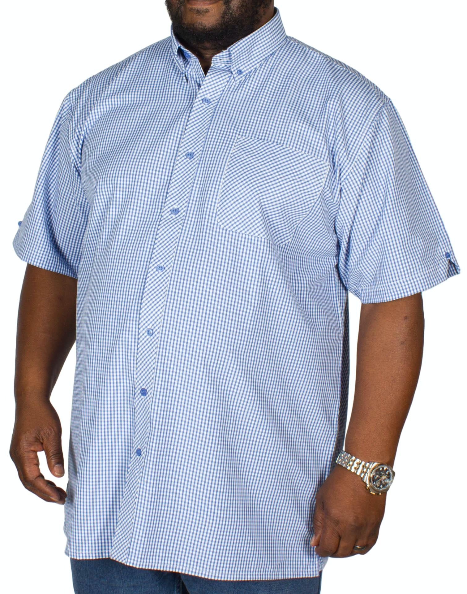 Espionage Gingham Short Sleeve Shirt Blue/White