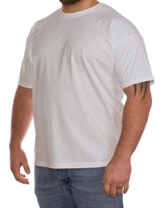 Fruit Of The Loom White Plain T-Shirt