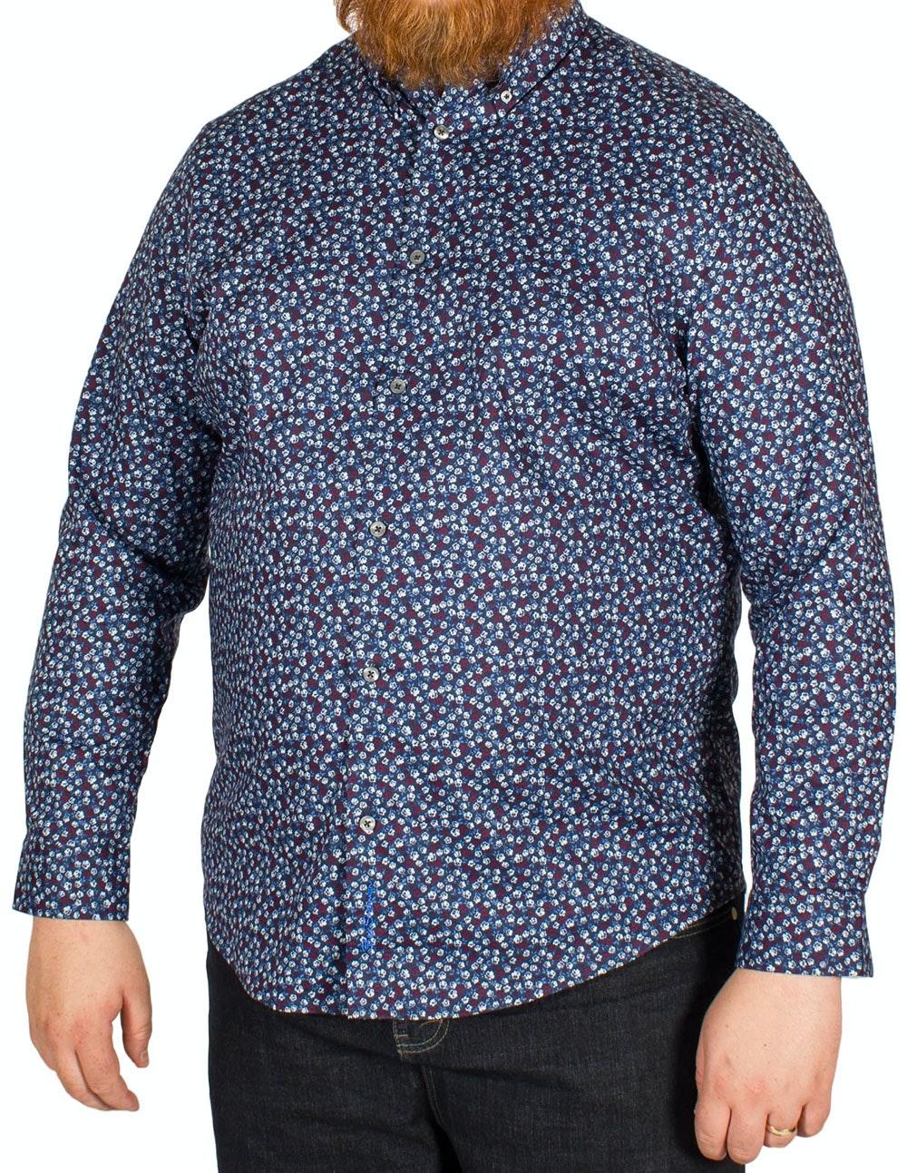 Ben Sherman Floral Print Shirt Navy