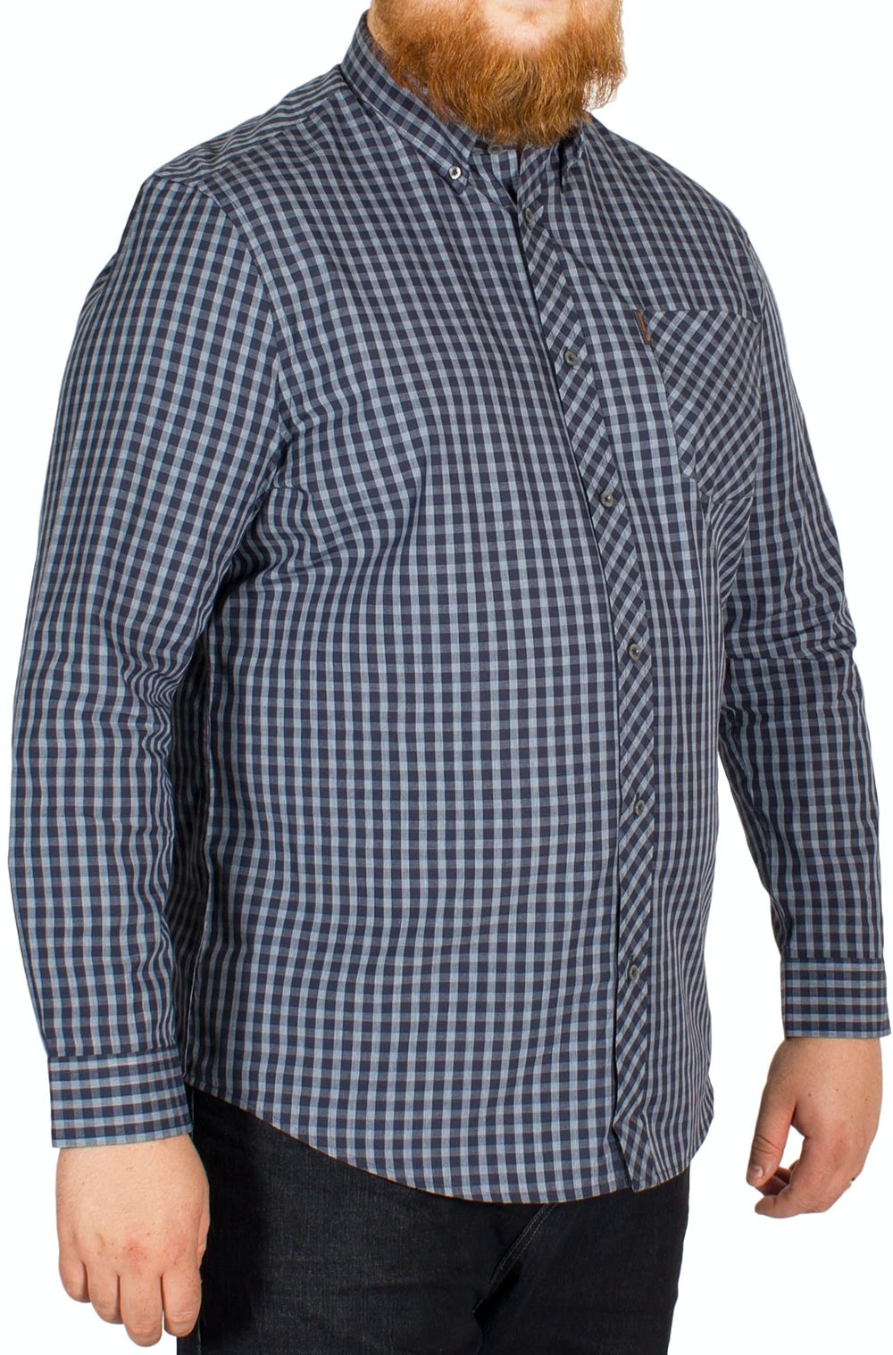 Ben Sherman Windowpane Check Shirt Indigo