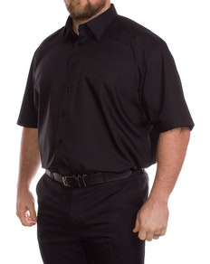 Rael Brook Plain Black Short Sleeve Shirt