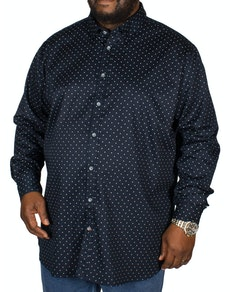D555 Rashard Cross Print Shirt Navy Tall