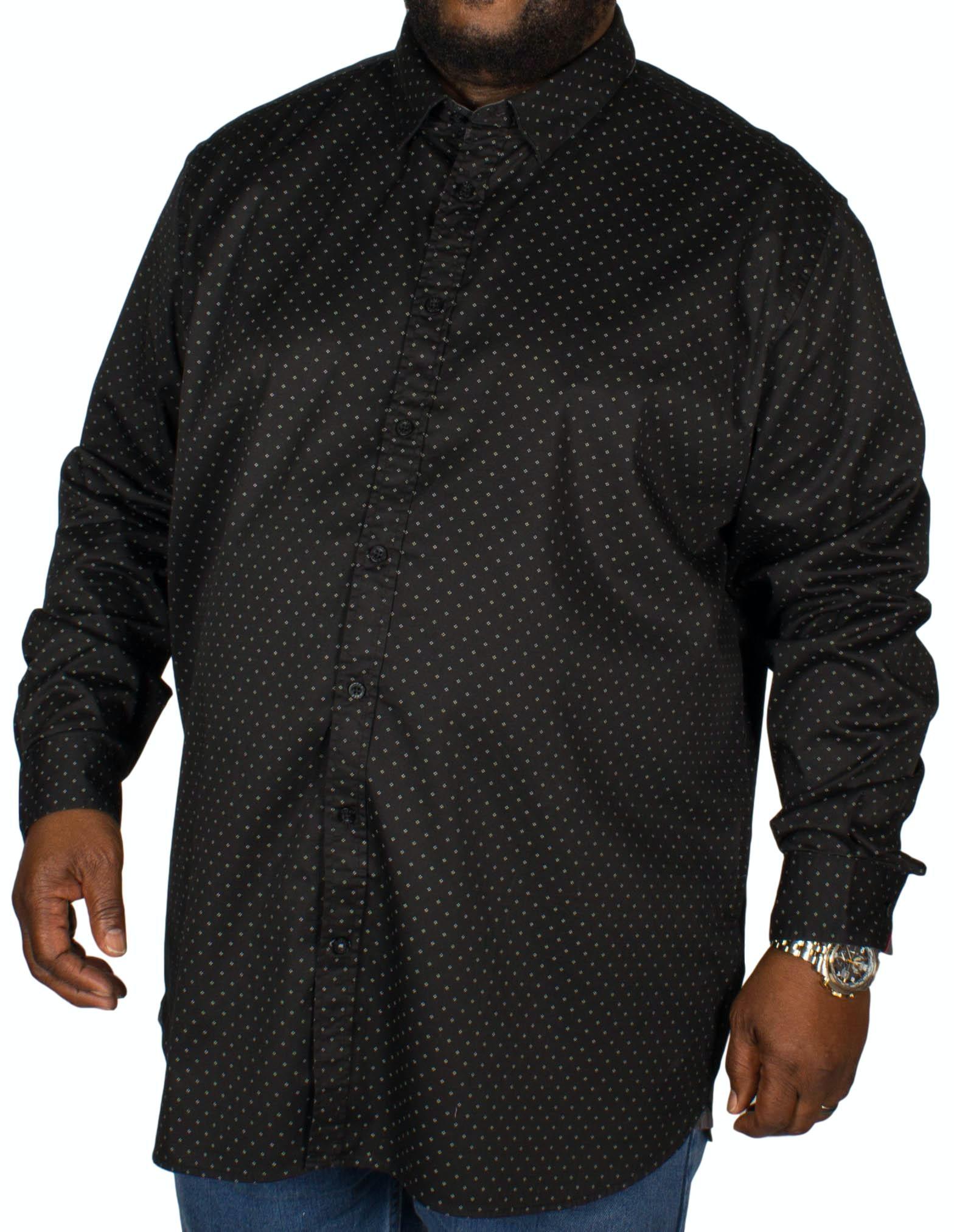 D555 Jahine Squares Print Shirt Black