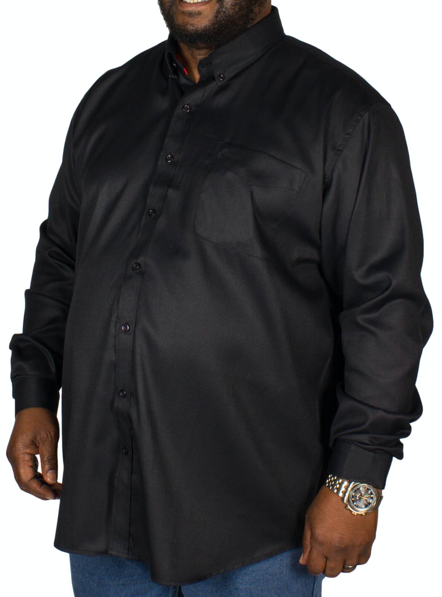 Espionage Oxford Long Sleeve Shirt Black