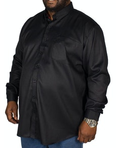 Espionage Oxford Long Sleeve Shirt Black