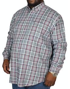 Espionage Twill Check Shirt Grey