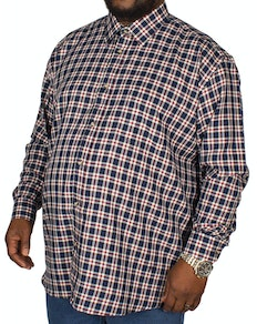 Cotton Valley County Check Long Sleeve Shirt Navy