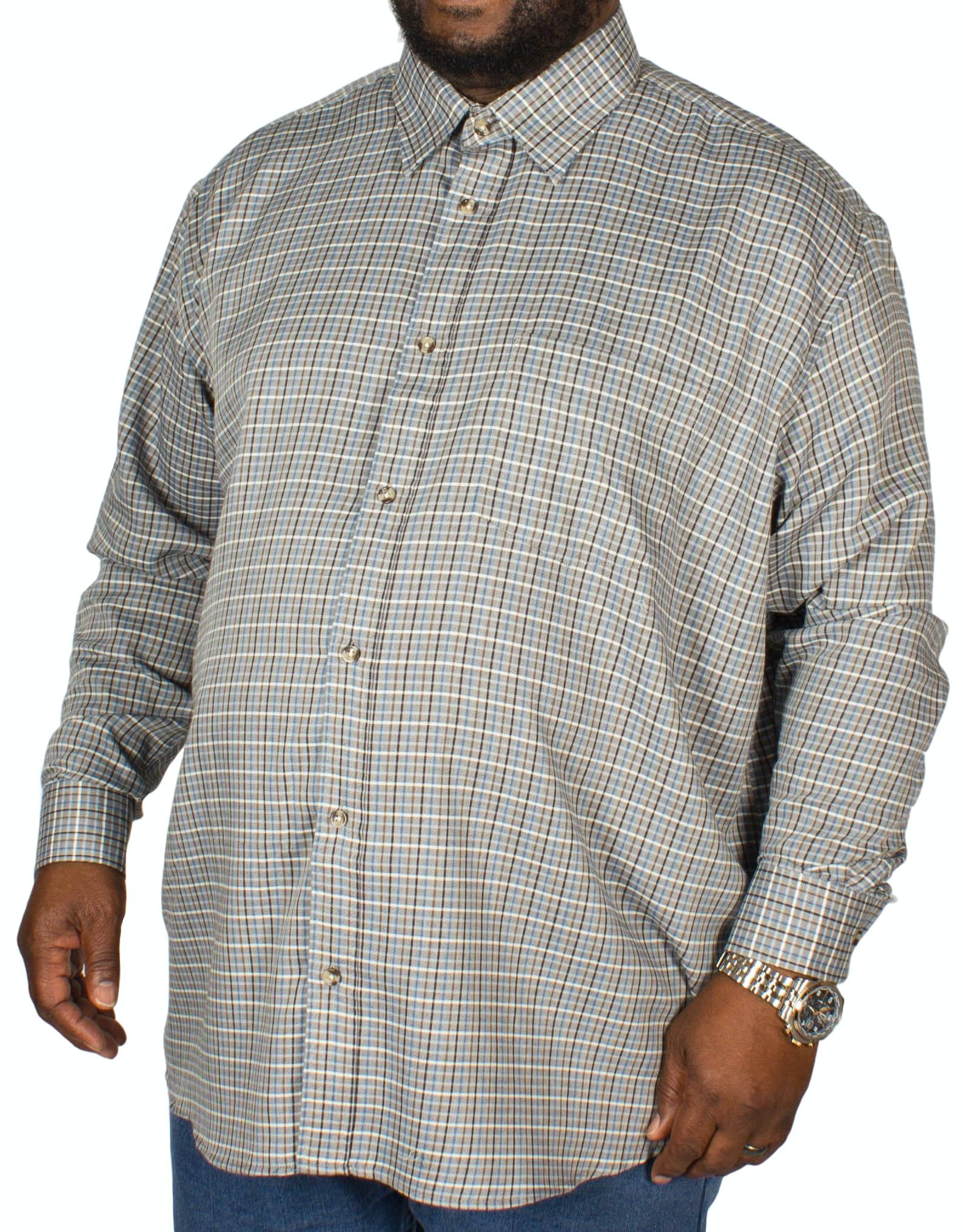 Cotton Valley County Check Long Sleeve Shirt Grey