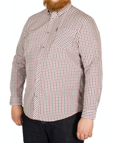 Ben Sherman Check Shirt Dark Blue/Red