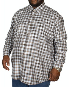 Cotton Valley County Check Long Sleeve Shirt White