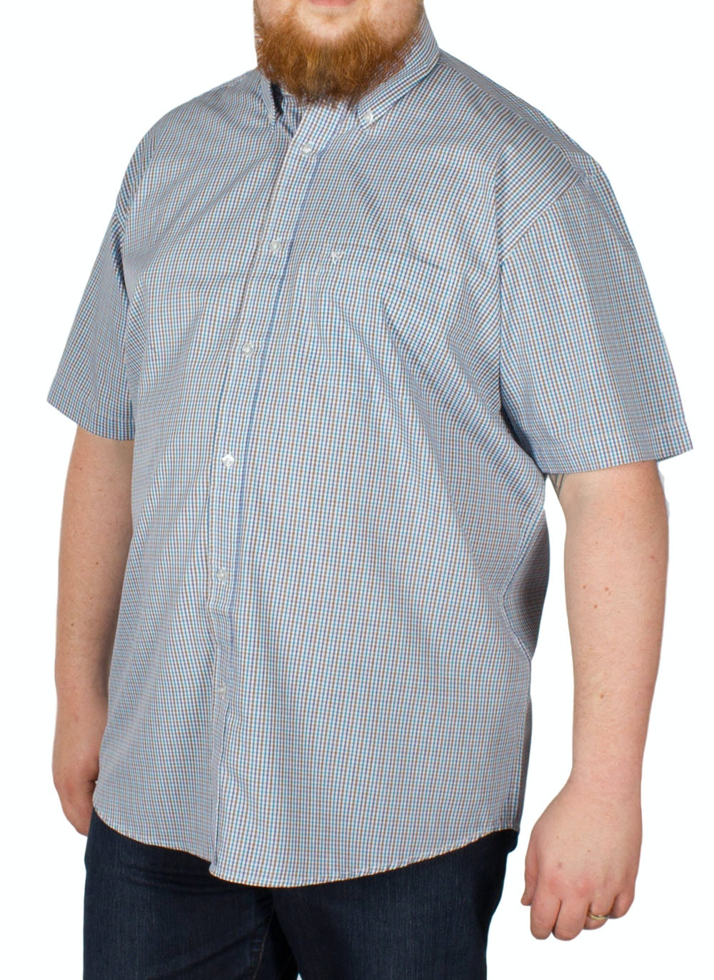 Cotton Valley Short Sleeve Small Check Shirt