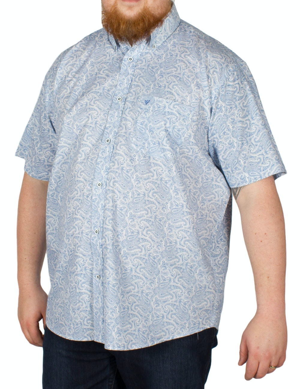 Cotton Valley Short Sleeve Paisley Shirt