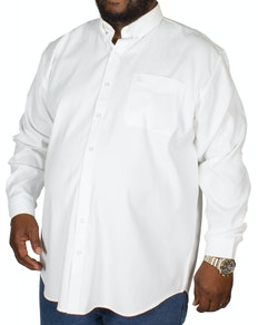 Espionage Oxford Long Sleeve Shirt White