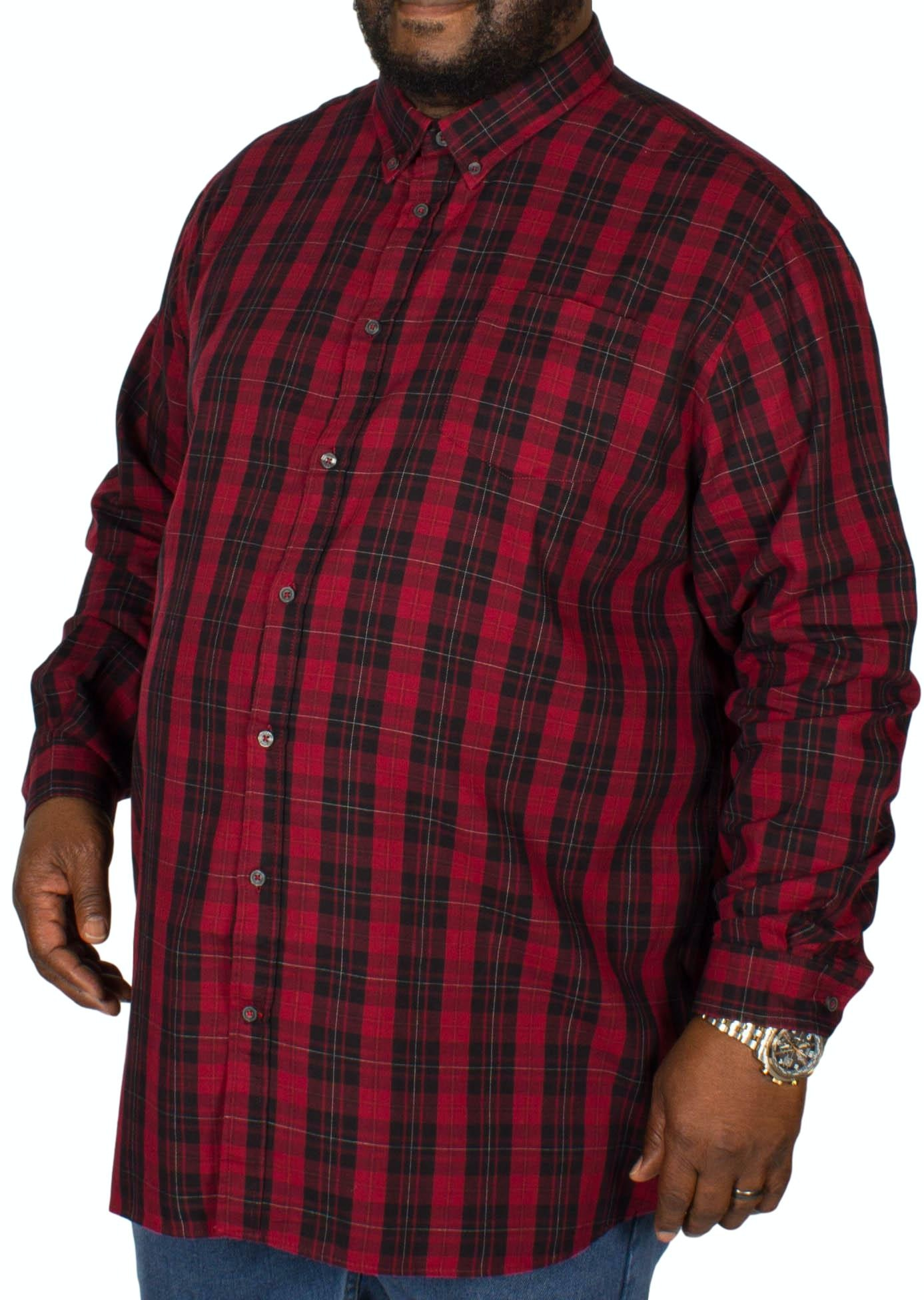 D555 Theo Check Shirt Red