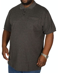 Bigdude Polo Shirt With Pocket Charcoal