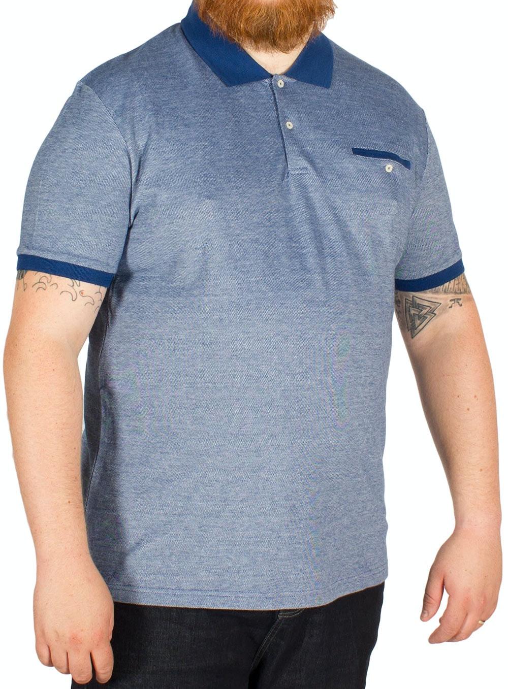 Ben Sherman Oxford Pique Polo Shirt Blue