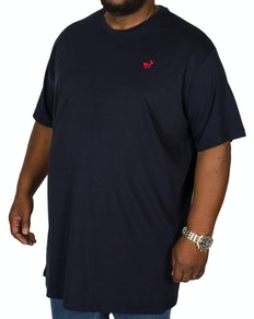 Bigdude Signature Crew Neck T-Shirt Navy/Red