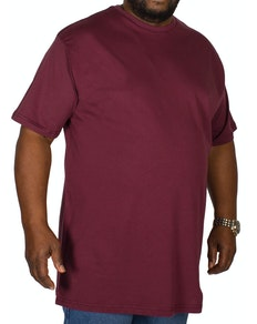 Bigdude Plain Crew Neck T-Shirt Burgundy