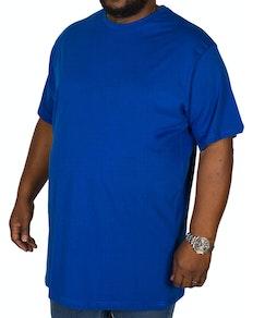 Bigdude Plain Crew Neck T-Shirt Royal Blue Tall