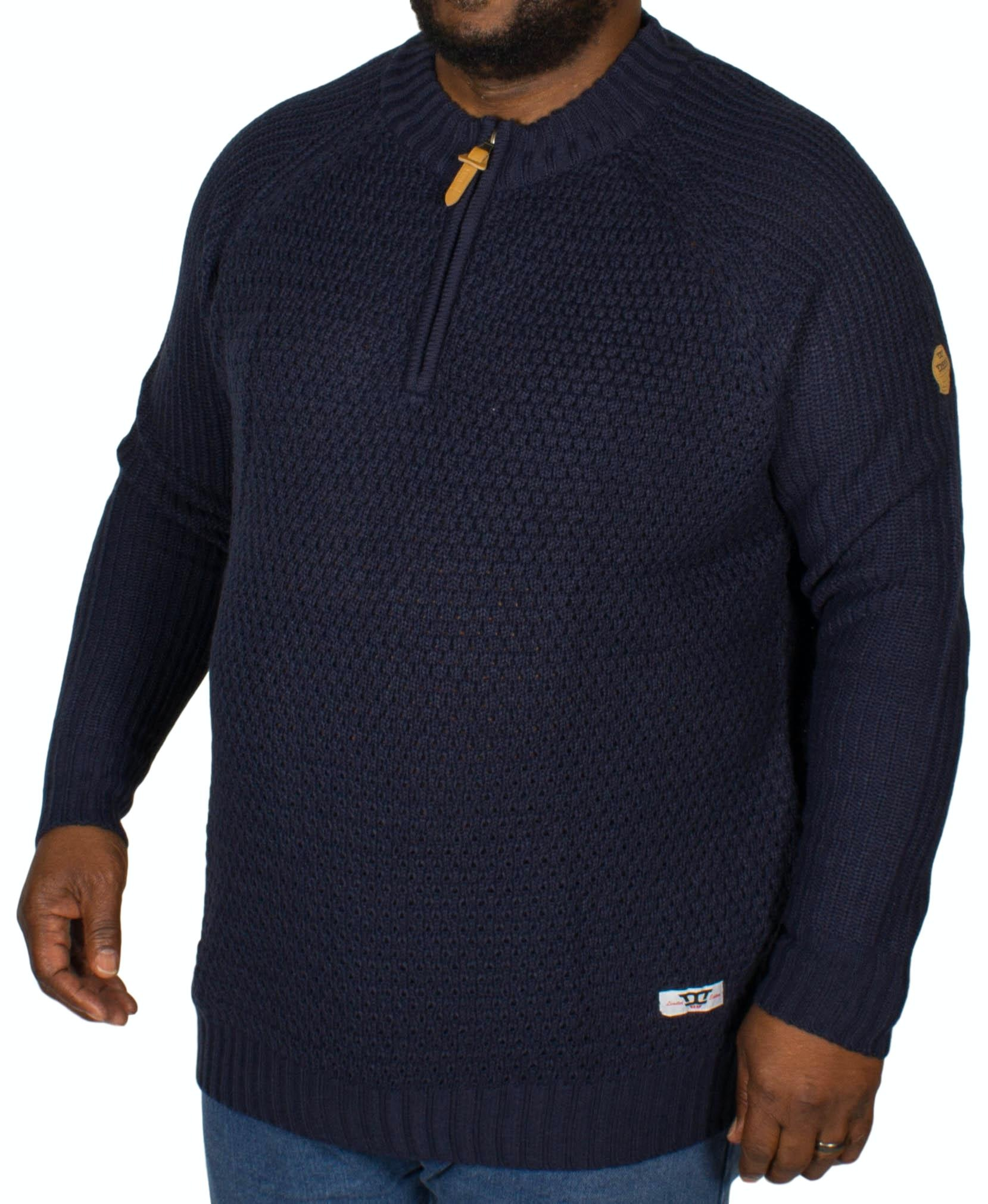 D555 Preston Zipper Neck Sweater Navy