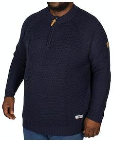 D555 Preston Zipper Neck Sweater Navy