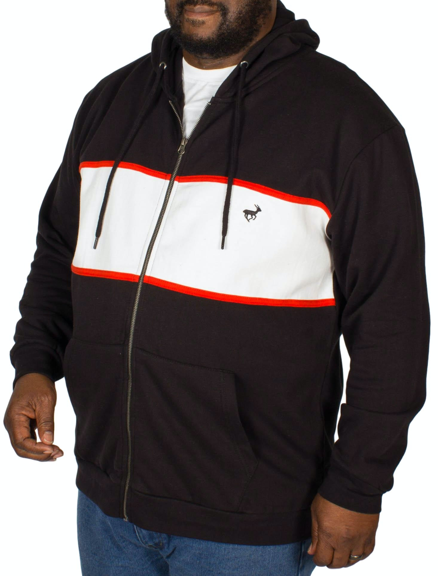 Bigdude Stripe Hoody Black/White