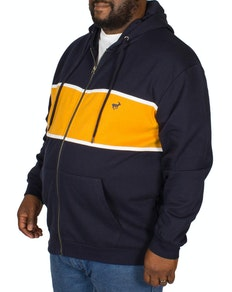 Bigdude Stripe Hoody Navy/Yellow