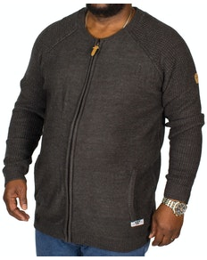 D555 Xavier Knitted Bomber Charcoal