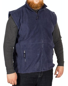 Metaphor Plain Full Zip Gilet Navy