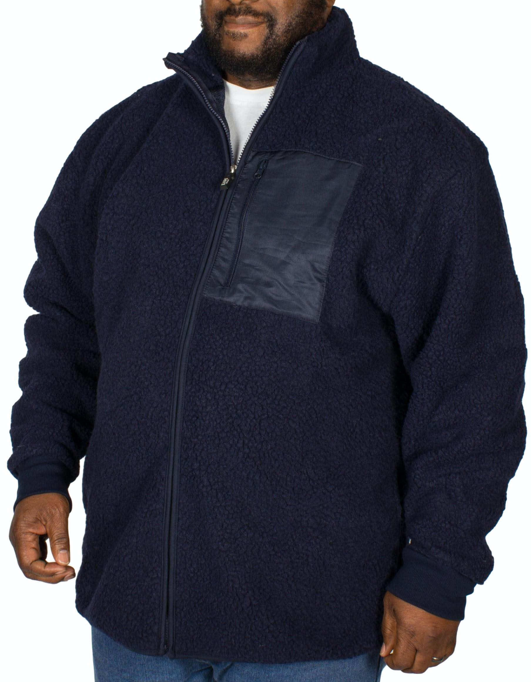 KAM Teddy Fleece Jacket Navy
