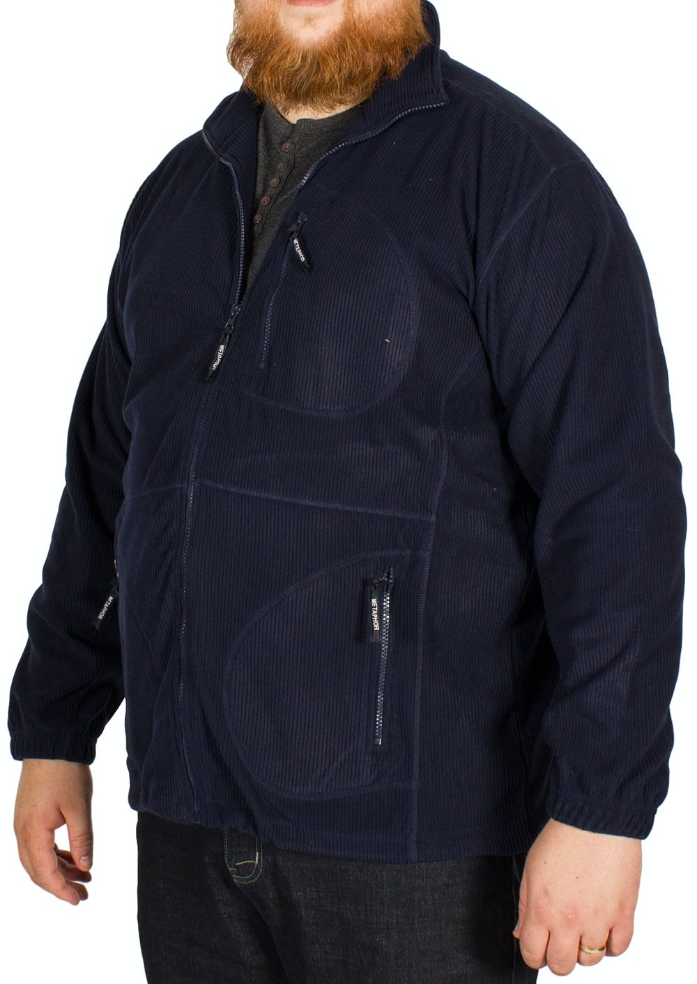 Cotton Valley Rib Polar Fleece Navy