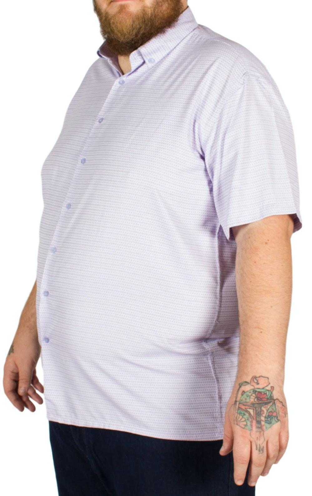 Fitzgerald Amos Heart and Diamond Print Shirt Purple