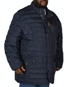 Erla Of Sweden Quilted Coat Navy