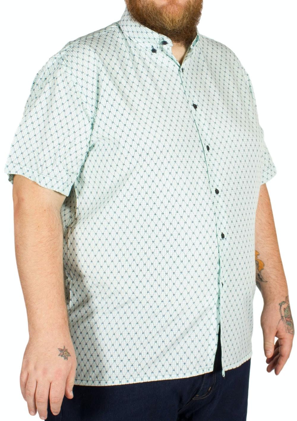 Fitzgerald George Heart Print Check Shirt Green