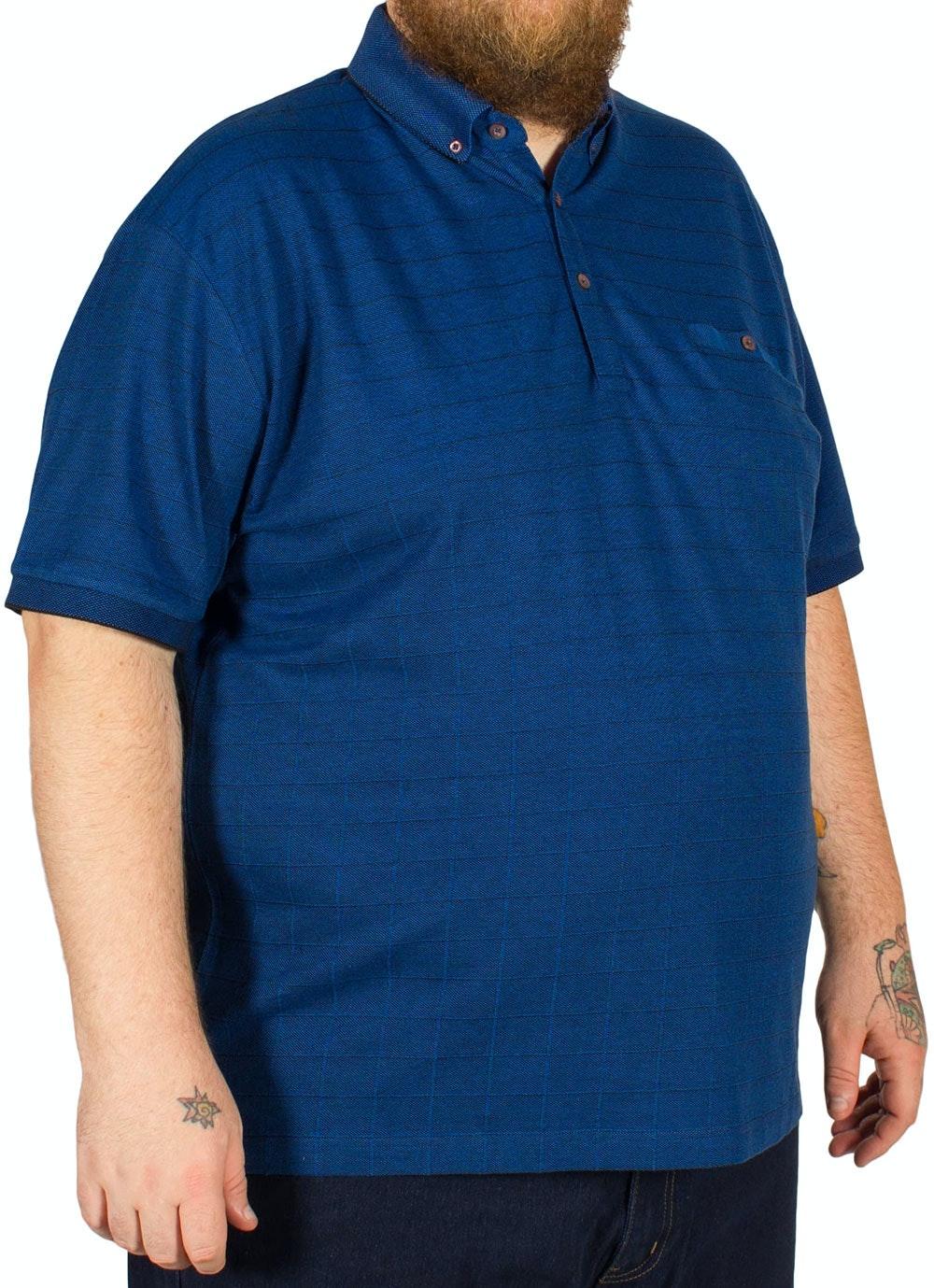 Lizard King Square Print Polo Shirt Cobalt