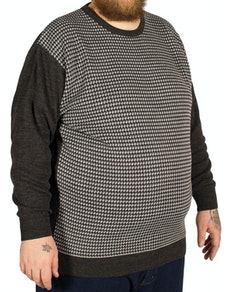 Cotton Valley Jacquard Print Jumper Grey