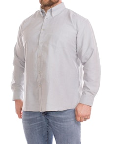 KAM Long Sleeve Oxford Shirt Grey