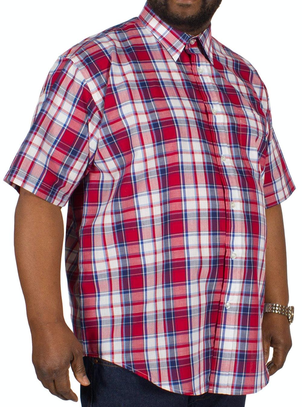 Metaphor Short Sleeve Check Shirt Red/Navy