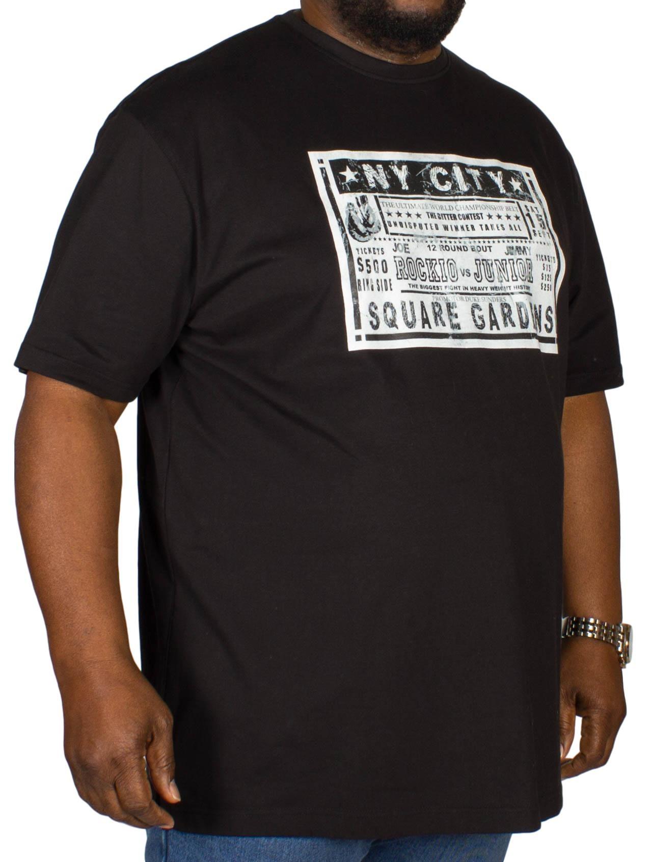 Cotton Valley Boxing Print T-Shirt Black