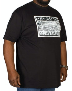Cotton Valley Boxing Print T-Shirt Black
