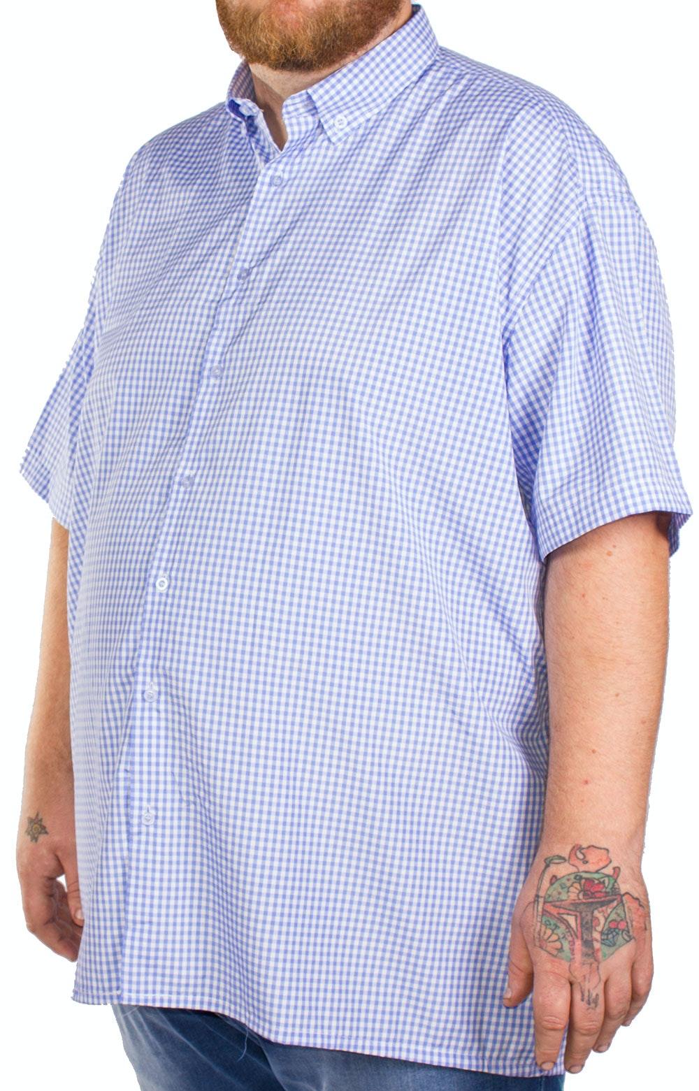 Fitzgerald Blue Gingham Short Sleeve Shirt