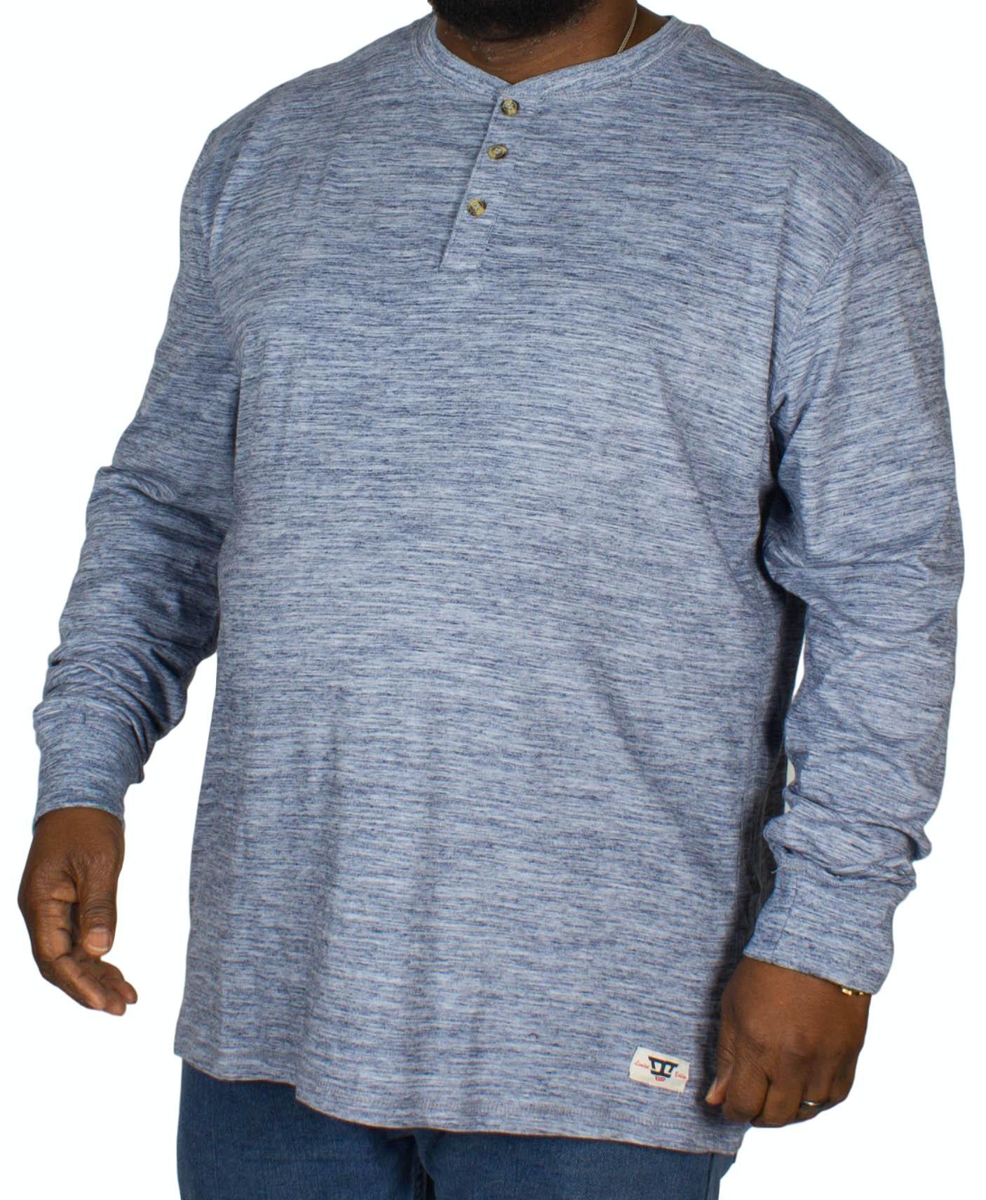 D555 Mack Grandad T-Shirt Blue